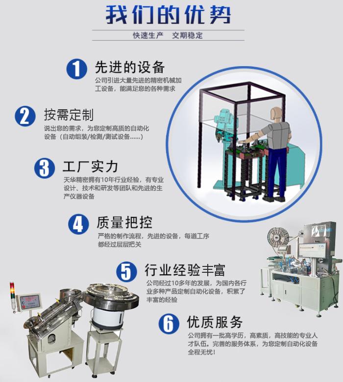 天华精密自动化设备定制厂家的优势